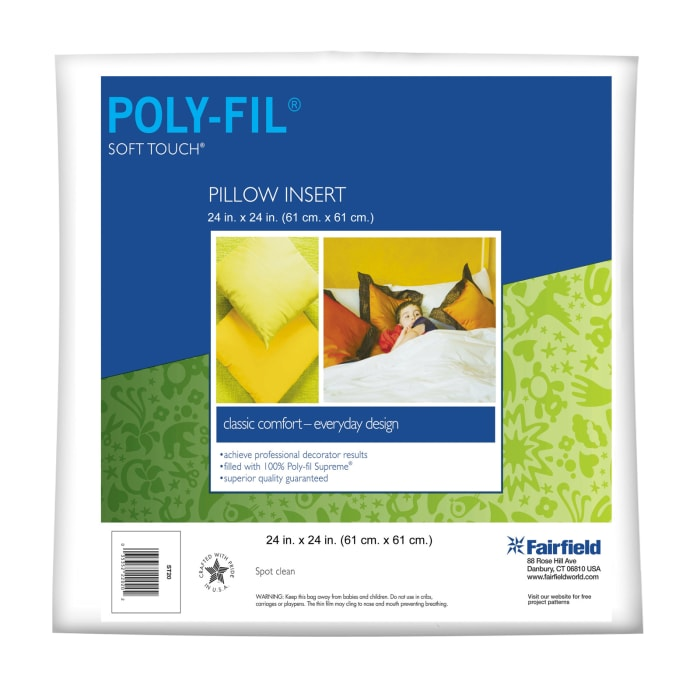 """Fairfield Soft Touch Supreme Poly-Fil Pillow 24"""" Square"""