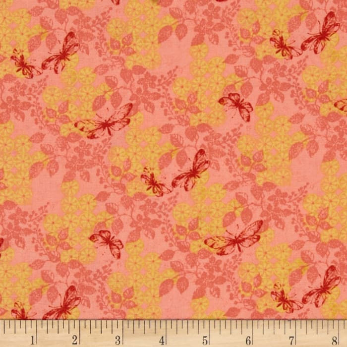 Imperial Dynasty Butterfly Floral Pink
