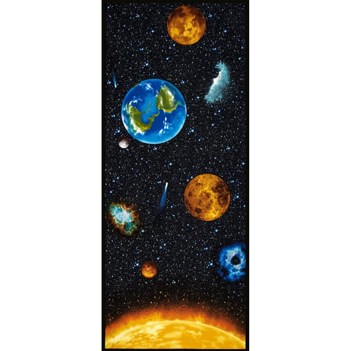 "I Want My Space 57"" Wide Planets of the Sun Panel Multi"