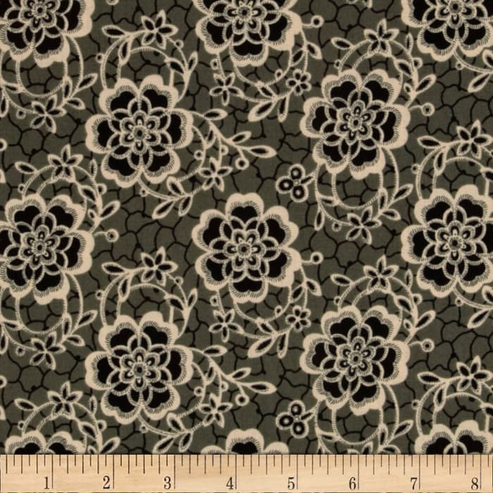 Downton Abbey Dowager Countess Floral Black