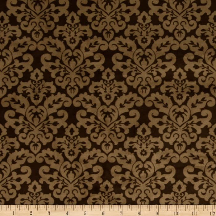 Shannon Minky Cuddle Classic Damask Brown/Cappuccino