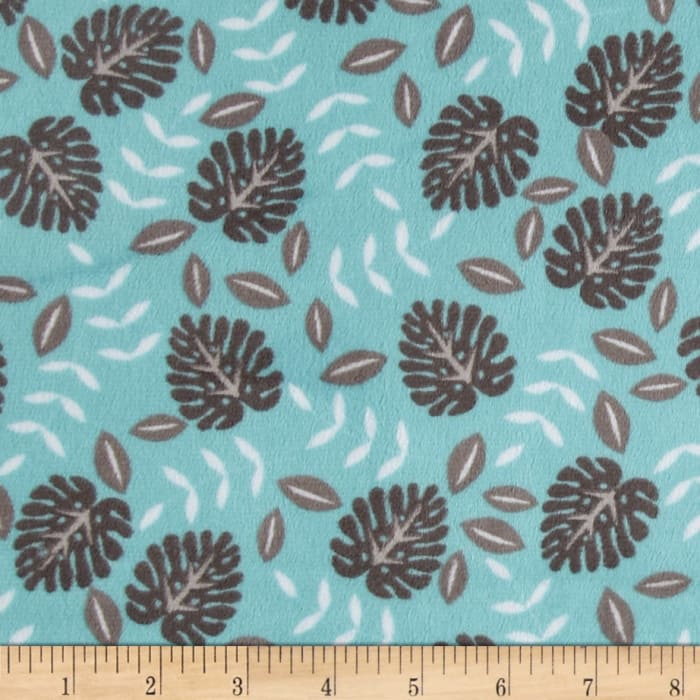 Shannon Minky Cuddle Jungle Palm Ash/Topaz