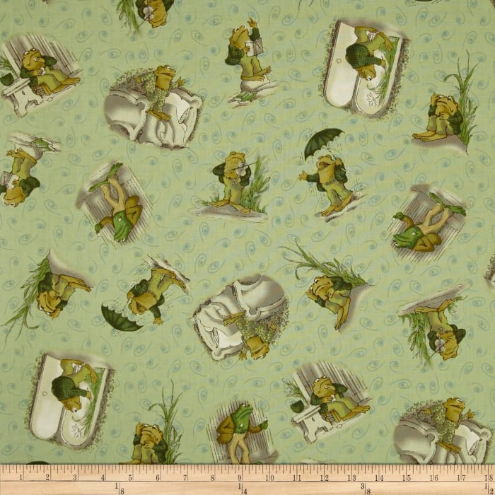 Frog and Toad Together Tossed Frog Green