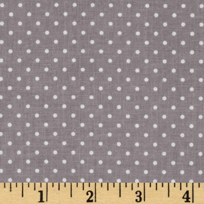 Riley Blake Swiss & Dots Gray/White