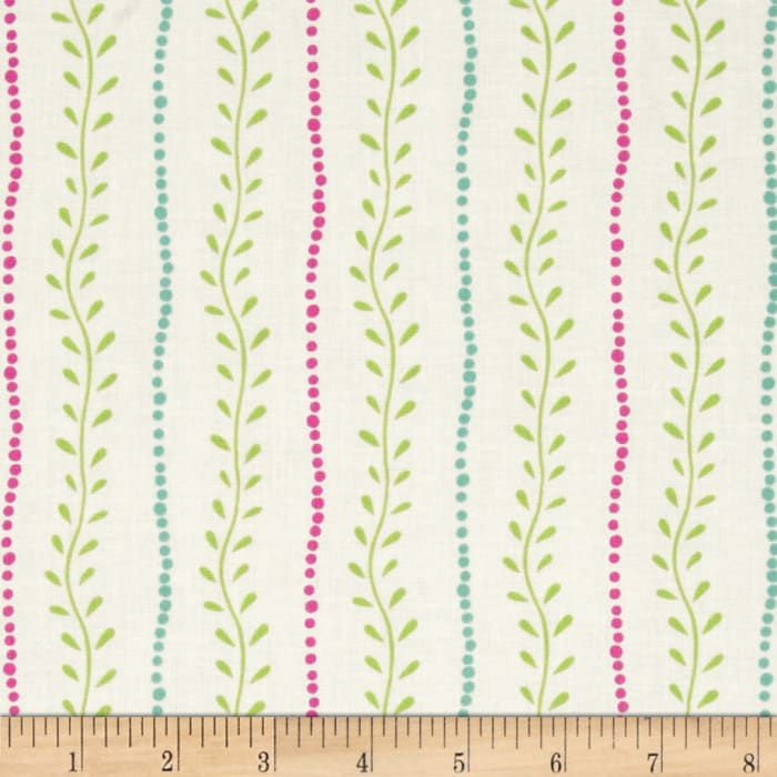 Lily Vine Stripe Cream