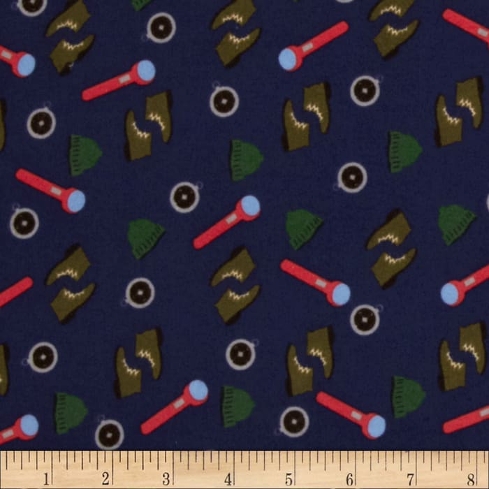 Take a Hike Flannel Camping Tools Navy