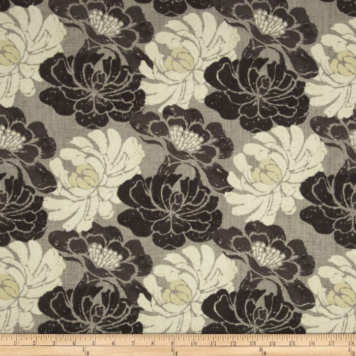 Twilight Blooms Packed Floral Grey