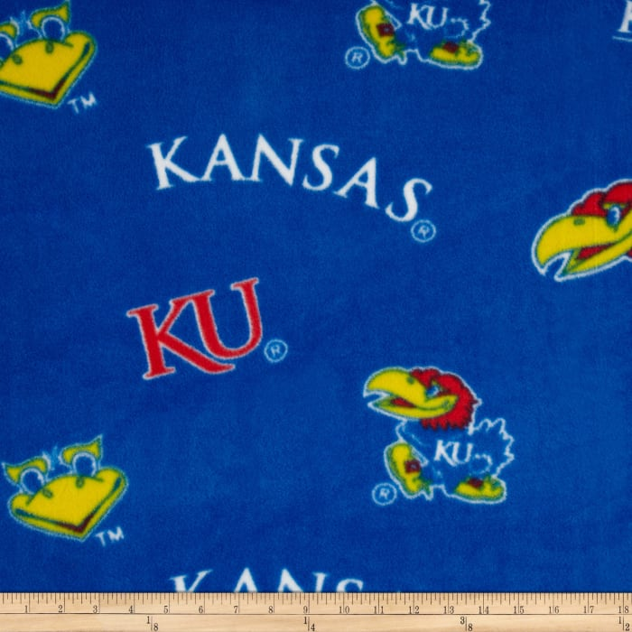 Collegiate Fleece University of Kansas Blue