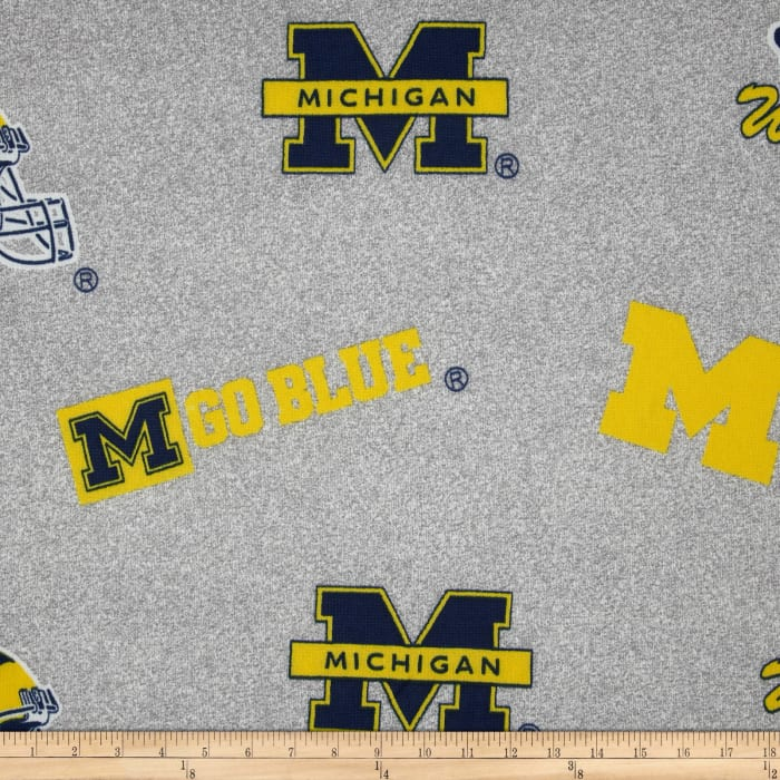 Collegiate Sweatshirt Fleece University of Michigan Heather Grey