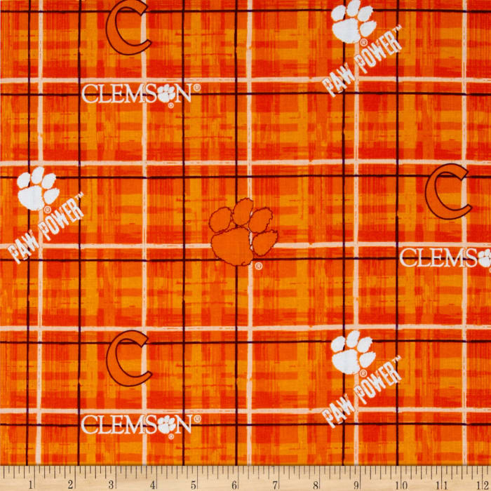 Collegiate Cotton Broadcloth Clemson Tigers