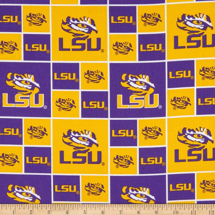 Collegiate Cotton Broadcloth Louisiana State University Tigers