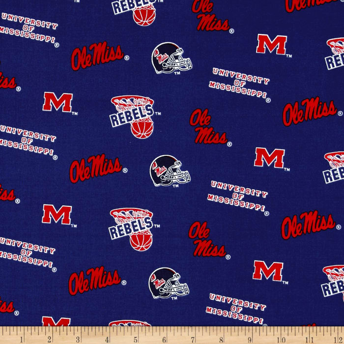 Collegiate Cotton Broadcloth University of Mississippi