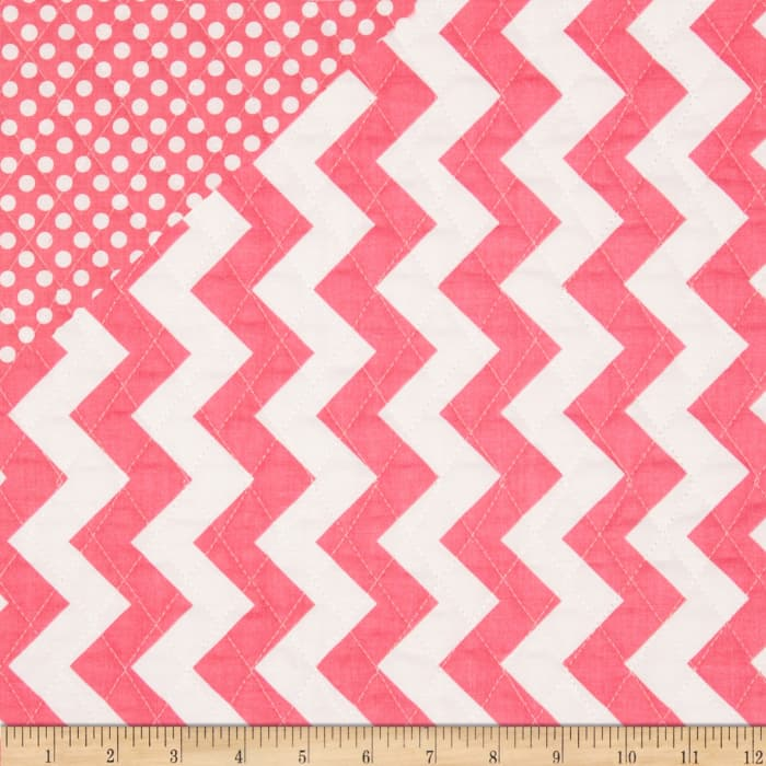 Riley Blake Double Sided Quilted Medium Chevron Hot Pink