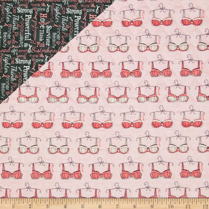 Riley Blake Double Sided Quilted Think Pink Pink