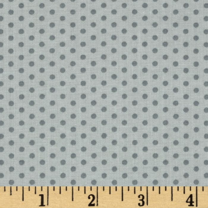 Kaufman Spot On Pindot Silver