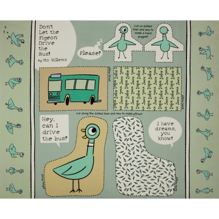 Cloud 9 Don't Let the Pigeon Drive the Bus Organic Panel Mint