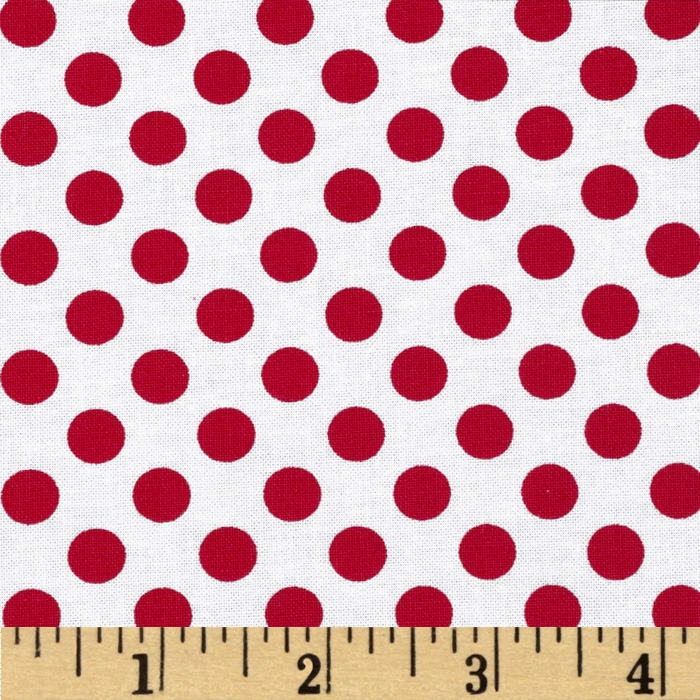 Kaufman Spot On Medium Dot Poppy