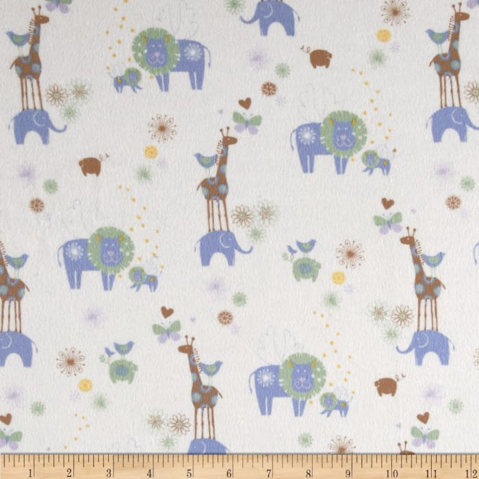 OOO Baby Flannel Animals Blue