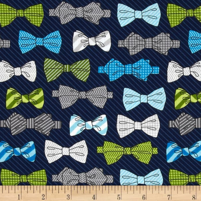 Fox and The Houndstooth Bowties Navy