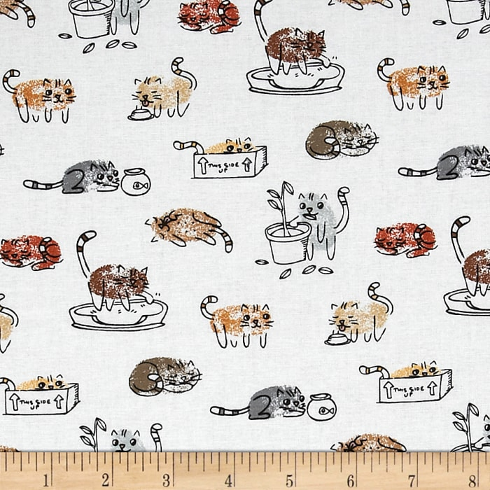 Timeless Treasures Cats White