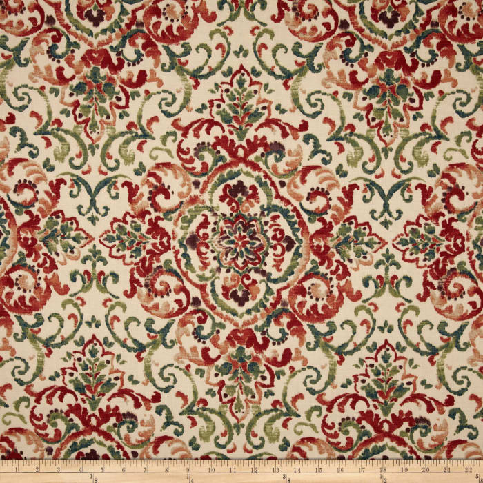Duralee Home Quentin Damask Jewel/Multi