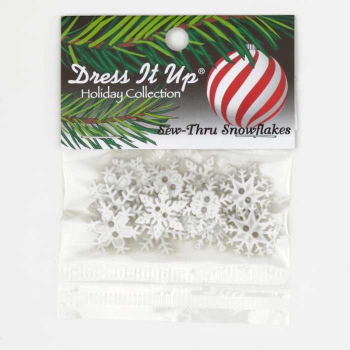 Dress It Up Embellishment Buttons Sew Thru Snowflakes