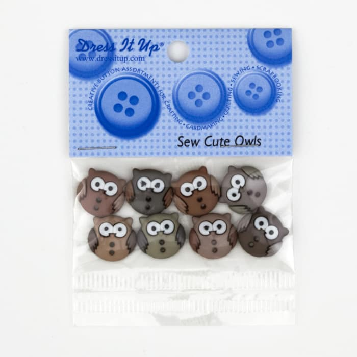 Dress It Up Embellishment Buttons Sew Cute Owls
