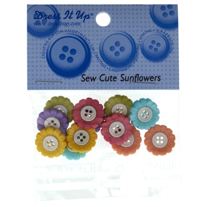 Dress It Up Embellisment Buttons  Sew Cute Sunflowers