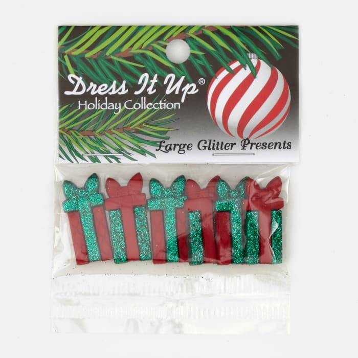Dress It Up Embellishment Buttons  Large Presents