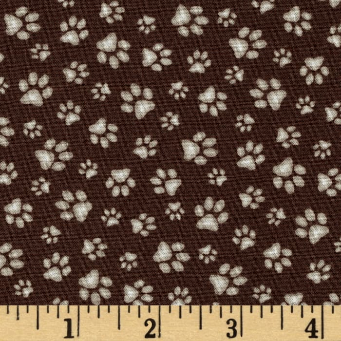 Sand Scribbles Paws Allover Brown