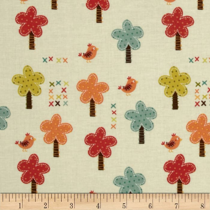 Riley Blake Giraffe Crossing Giraffe Trees Cream
