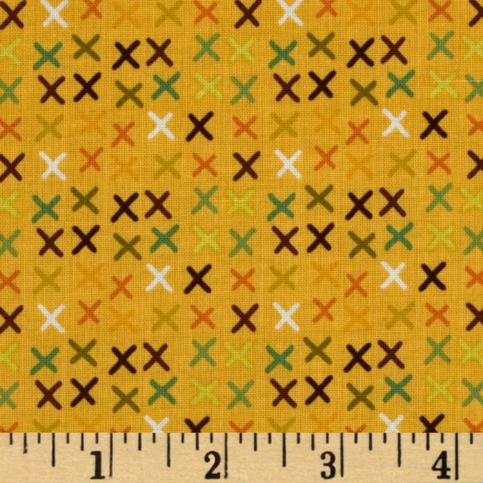Riley Blake Giraffe Crossing Giraffe Tic Tac Yellow