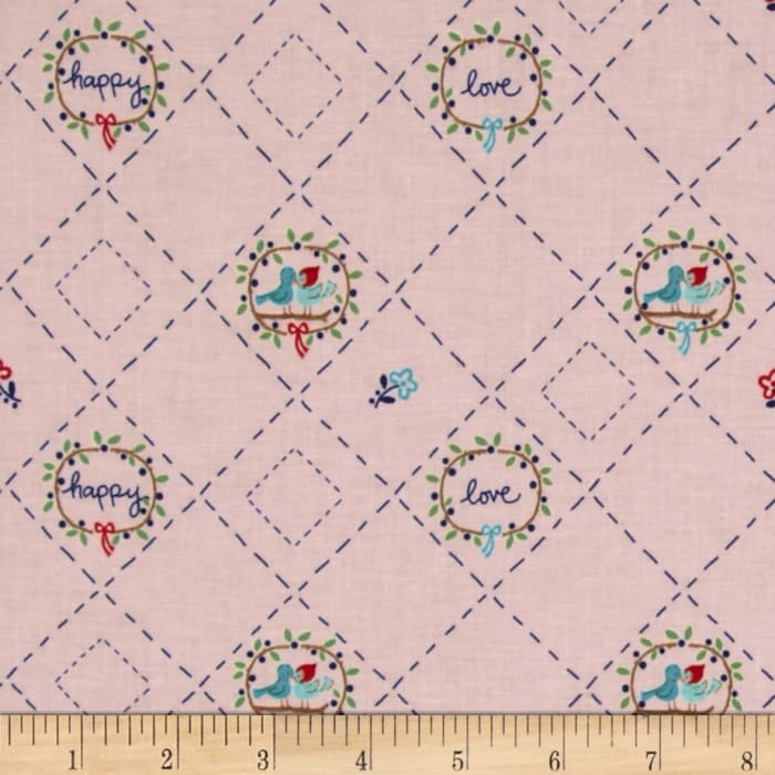 Riley Blake Country Girls Country Birds Pink