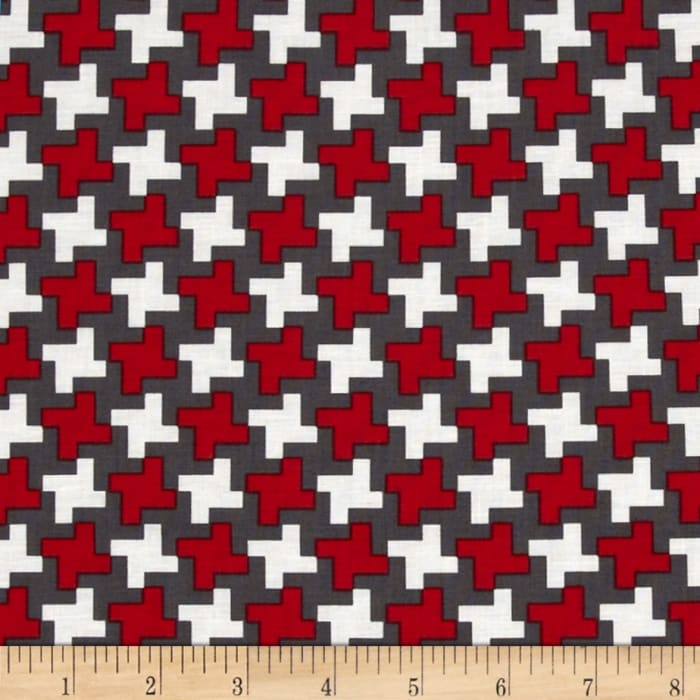 Farm To Fork Houndstooth Red
