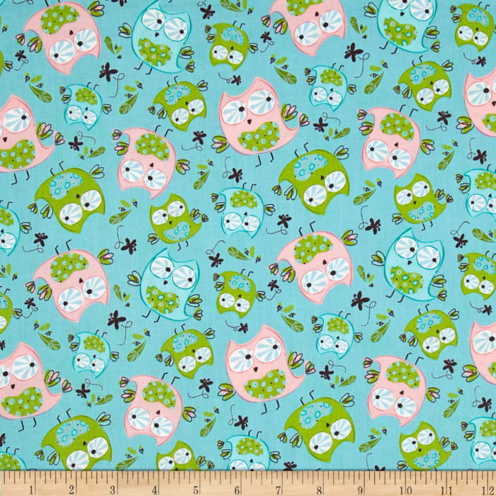 Whoo's Cute Owls Turquoise