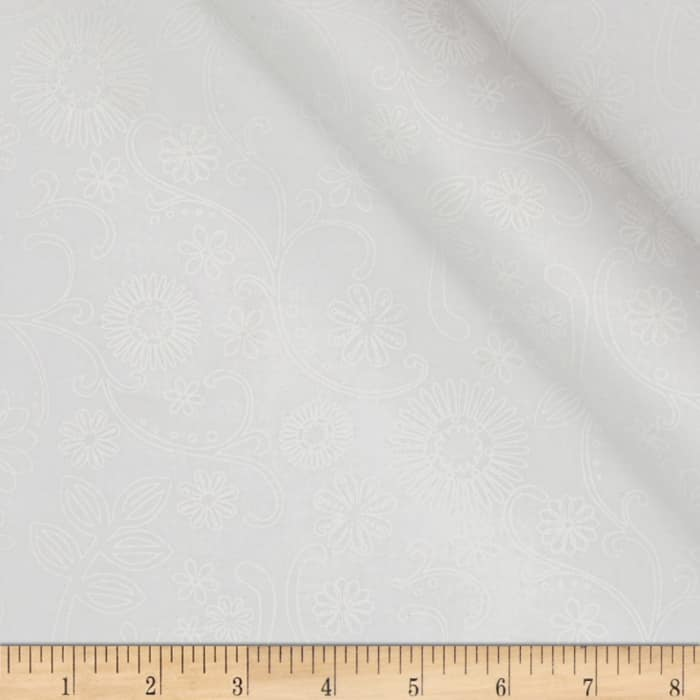 """110"""" Wide Quilt Back Signature White"""