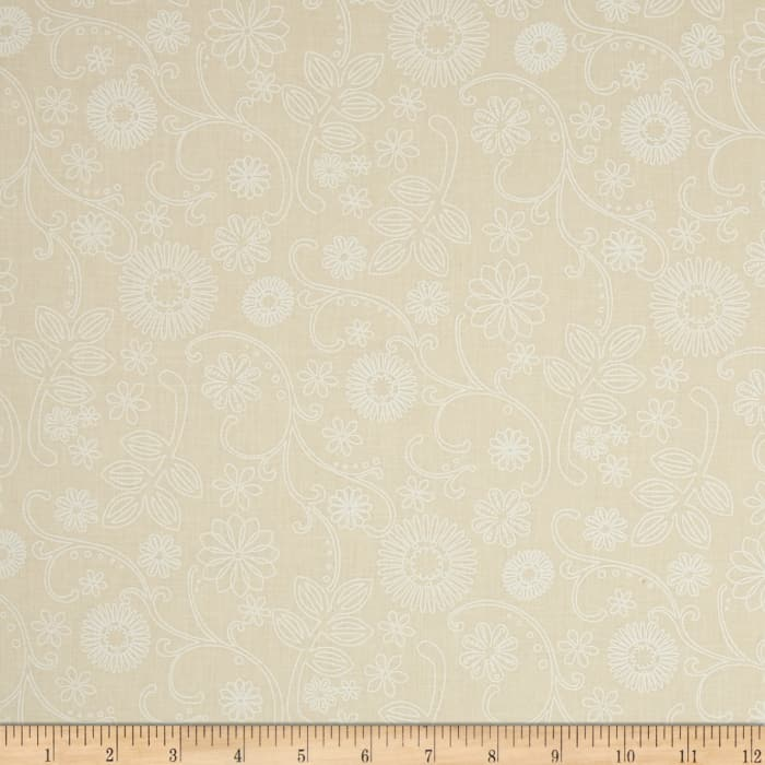 """110"""" Wide Quilt Back Signature Ivory"""