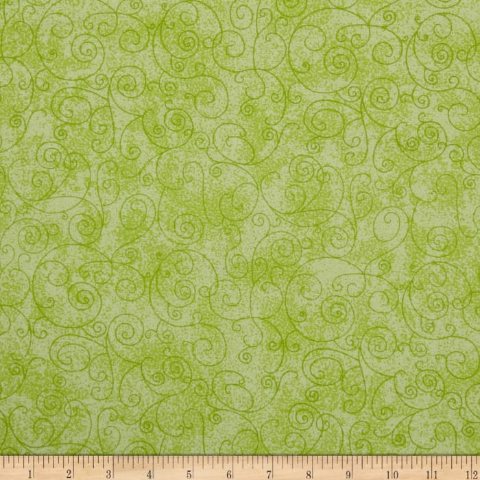 """110"""" Wide Flannel Quilt Back Willow Light Green"""