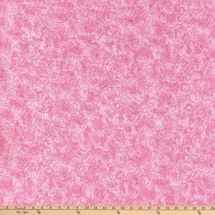 """110"""" Wide Flannel Quilt Back Willow Pink"""