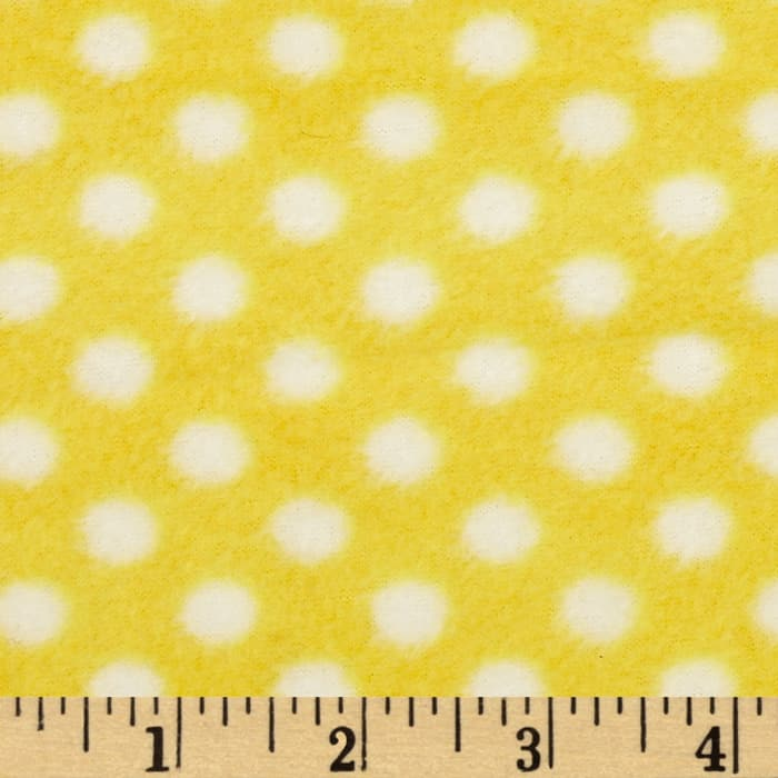 Fleece Polka Dot Yellow/White