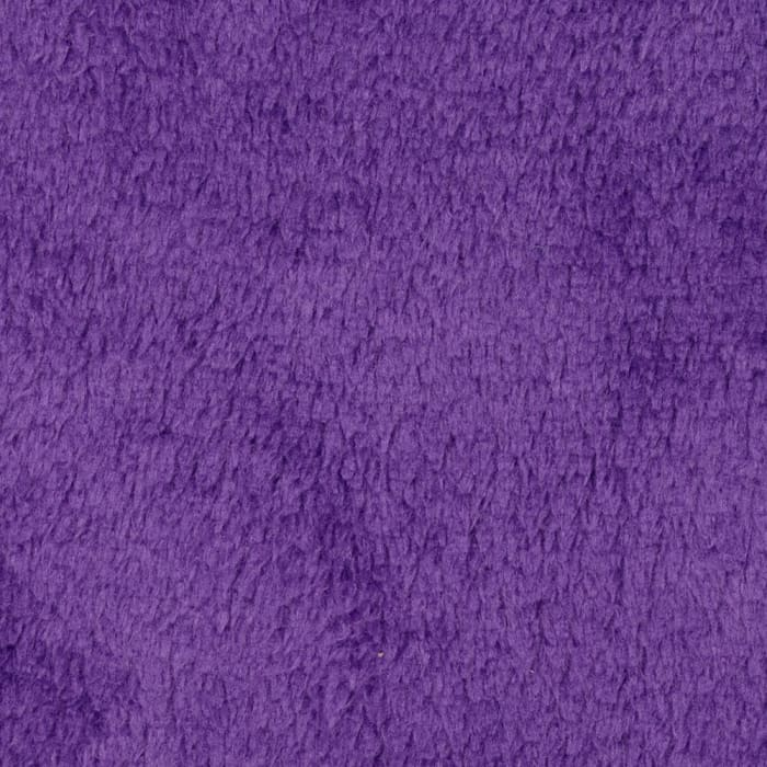 Plush Coral Fleece Solid Amethyst