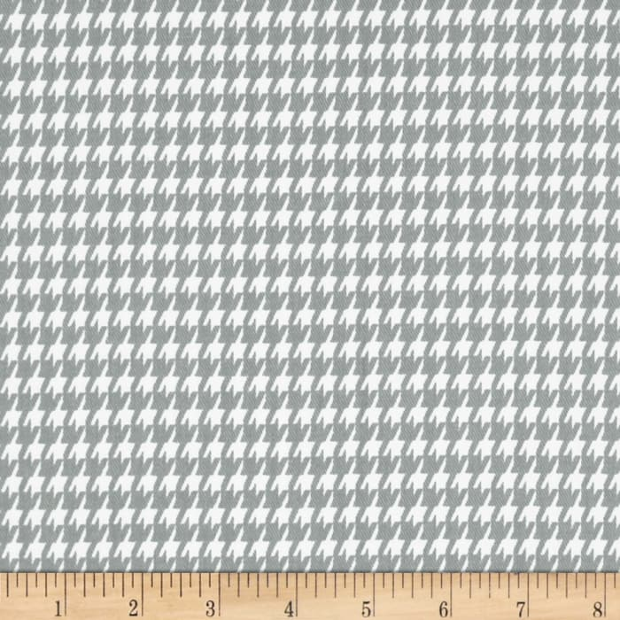 Premier Prints Houndstooth Twill Storm/White