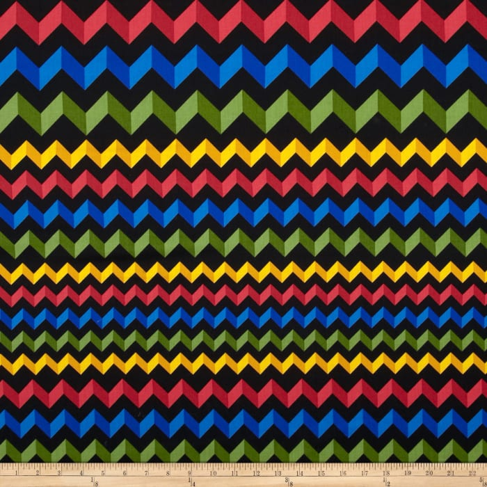 Crinkle Stripe Black/Primary