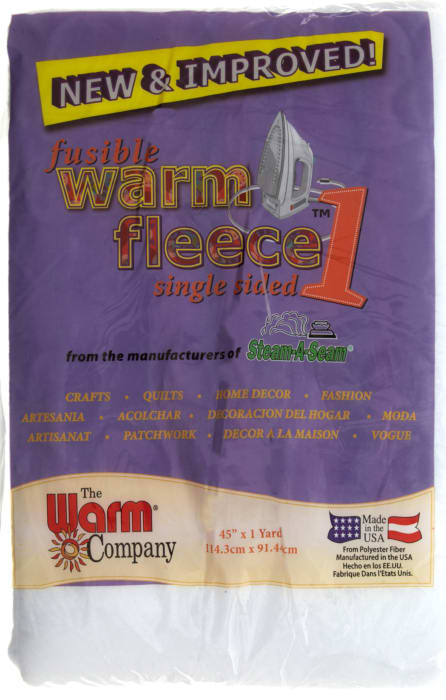 "Warm Fleece Fusible 45"" X 36"" Batting"