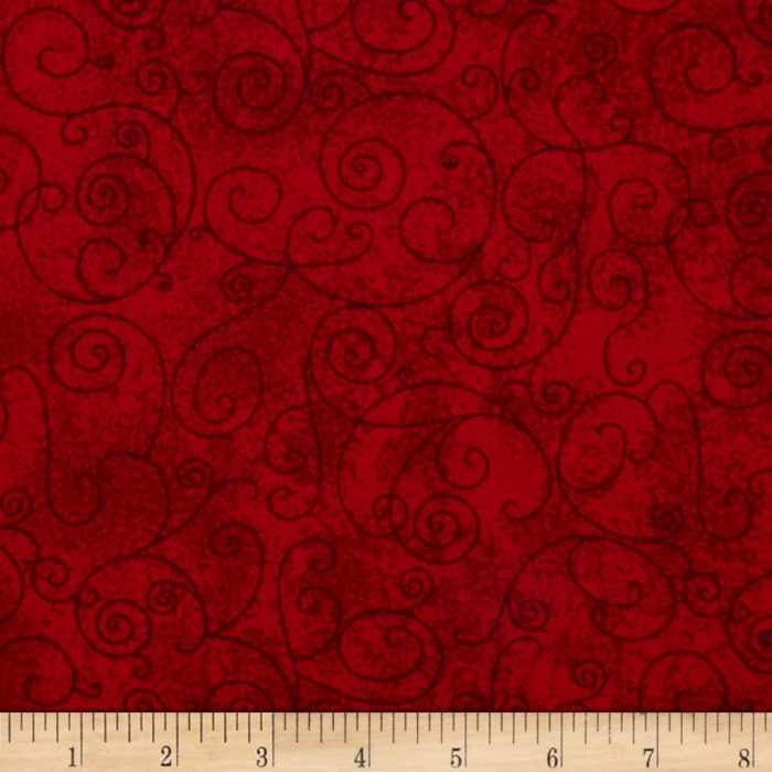 """110"""" Wide Quilt Back Flannel Willow Claret"""