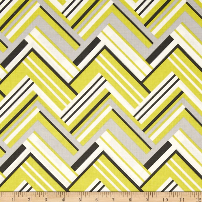 Michael Miller Pastel Pop Citron Grey Virginia Citron