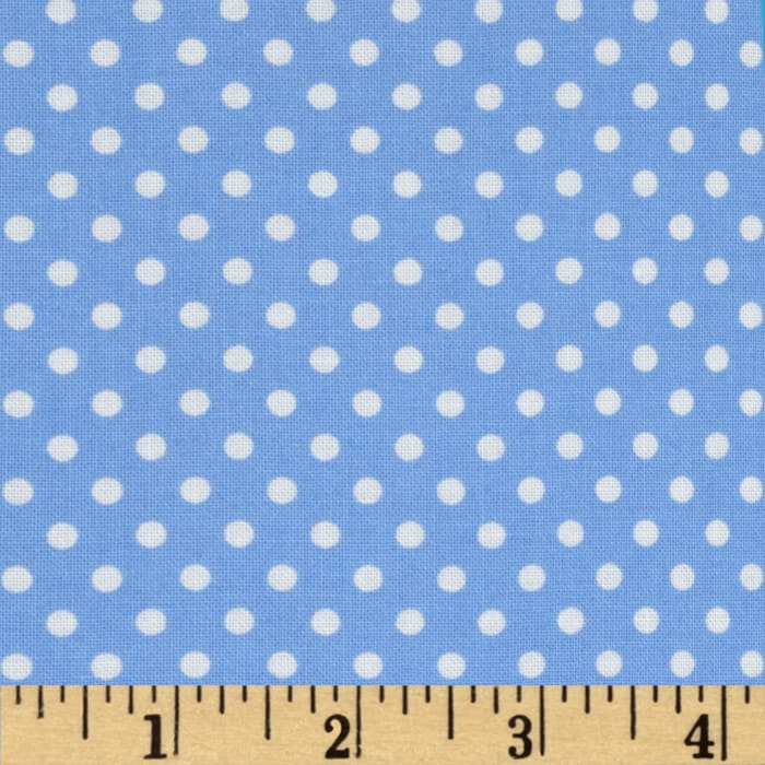 Moda Dottie Small Dots Sky Blue
