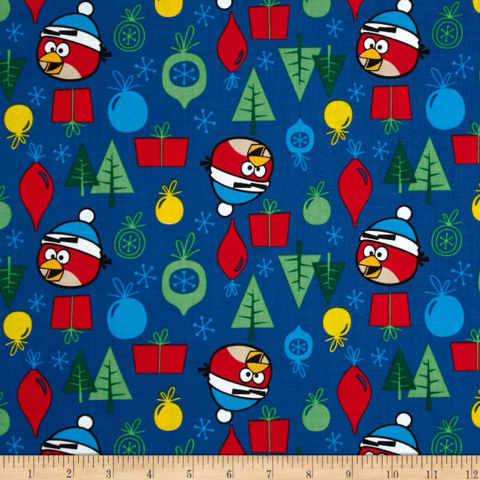 Angry Birds Ornaments Blue