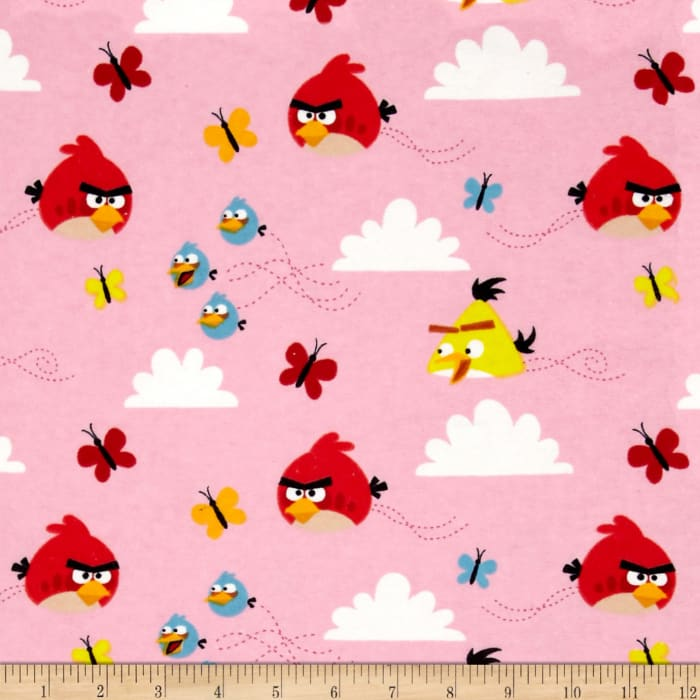 Angry Birds Flannel Float On Pink