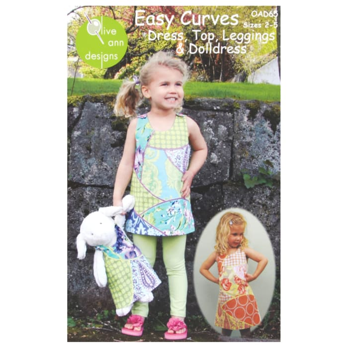 Olive Ann Designs Easy Curves Dress, Top, Leggings and Doll Dress Pattern